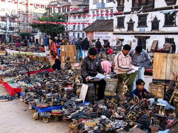 Street vendors in Nepal