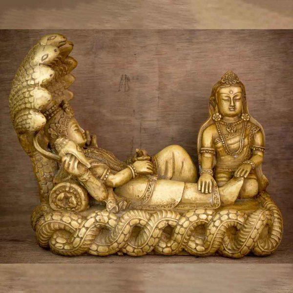 Laxmi Narayan Statue - thamelshop - spritual item - lord bishnu - bishnu statue - lord bishnau statue - laxmi narayan - hindu god - swaminarayan