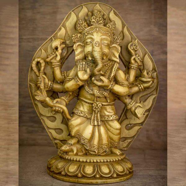 Festival Parwa Ganesh Statue - thamelshop - ganesh statue- antique ganesha statue - lord ganesh - best statue - spritual items