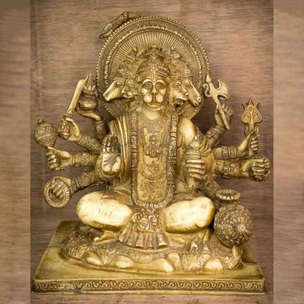 5 Faced Ivory Hanuman Statue - hanuman - hanuman statue - baanar -sankat mochan hanuman - spritual items - ram and hanuman - hanuman monkey - hanuman facts - lord hanuman vagwan hanuman - ram bhakta hanuman - brahmachari hanuman