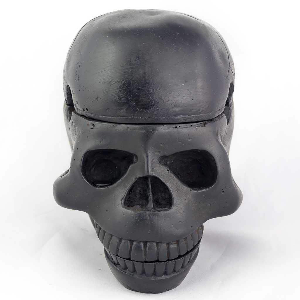 3 Piece Trinket Box Ashtray Black-black ashtray - black skull ashtray- cool skull ashtray - cool ashtray