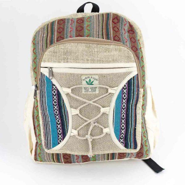 Hemp Backpack - HB75003-cheap-best-thamelshop-hippie-clothing-nepal-australia