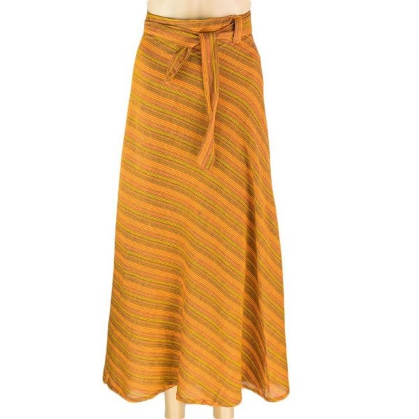 Cotton Wrapper Skirt - Orange | Thamel Shop