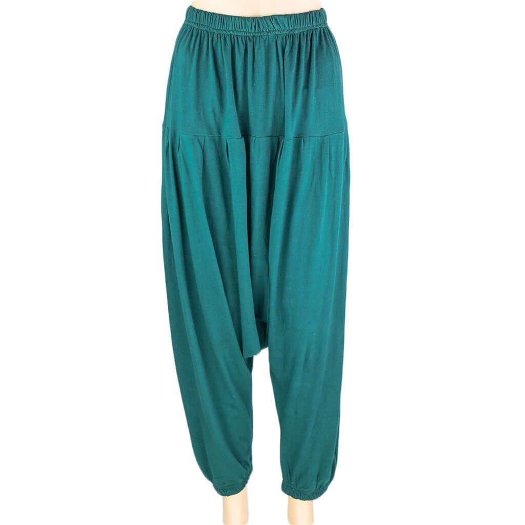 green drop crotch pant harem