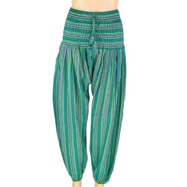 thamel-shop-women-stripe-harem-pant-sea-green-hippie-nepal-clothing-australia
