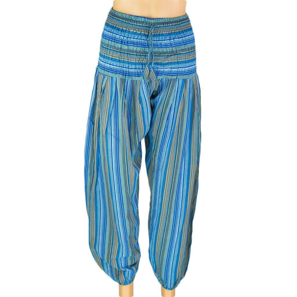 Turquoise-Harem-Stripe-Pant-women-Thamel-Shop