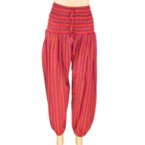 thamel-shop-red-hrem-pant-stripe-women-hippie-nepal-australia-worldwide-shipping