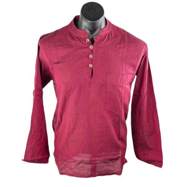 hippie-thamelshop-cotton-kurta-maroon-worlwide-shipping-nepal-clothing-australia