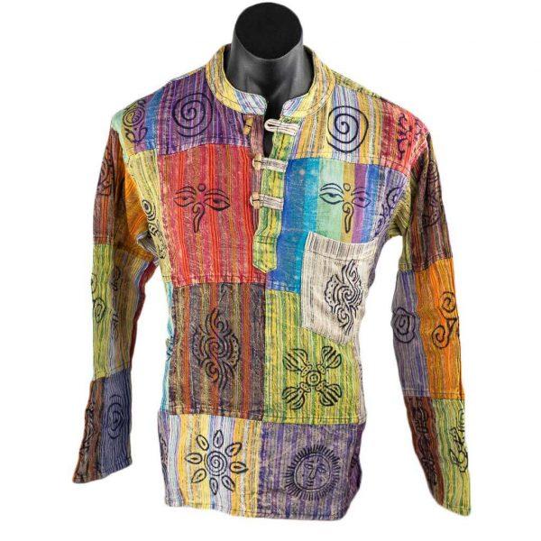ethnic-striped-cotton-patch-kurta-thamelshop-hippie-nepali-clothing-in-australia-worldwide-shipping