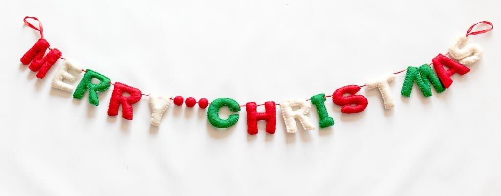 Felt Merry Christmas Letter Banner